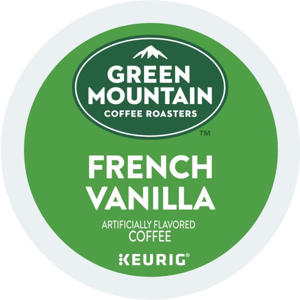 Green Mountain Coffee French Vanilla, Keurig K-Cup Pod, Ligh