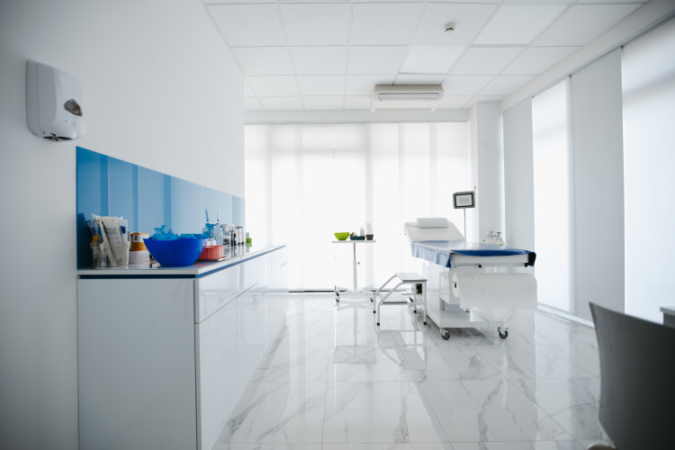 Sterile patient room in hospital