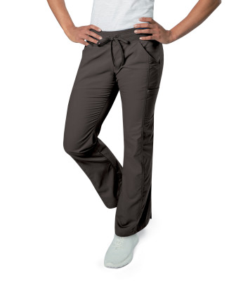Landau All Day Stretch, 5 Pocket Scrub Pants for Women - Modern Tailored Fit, Straight Leg, Yoga Waist Medical Scrubs Pant 2040-