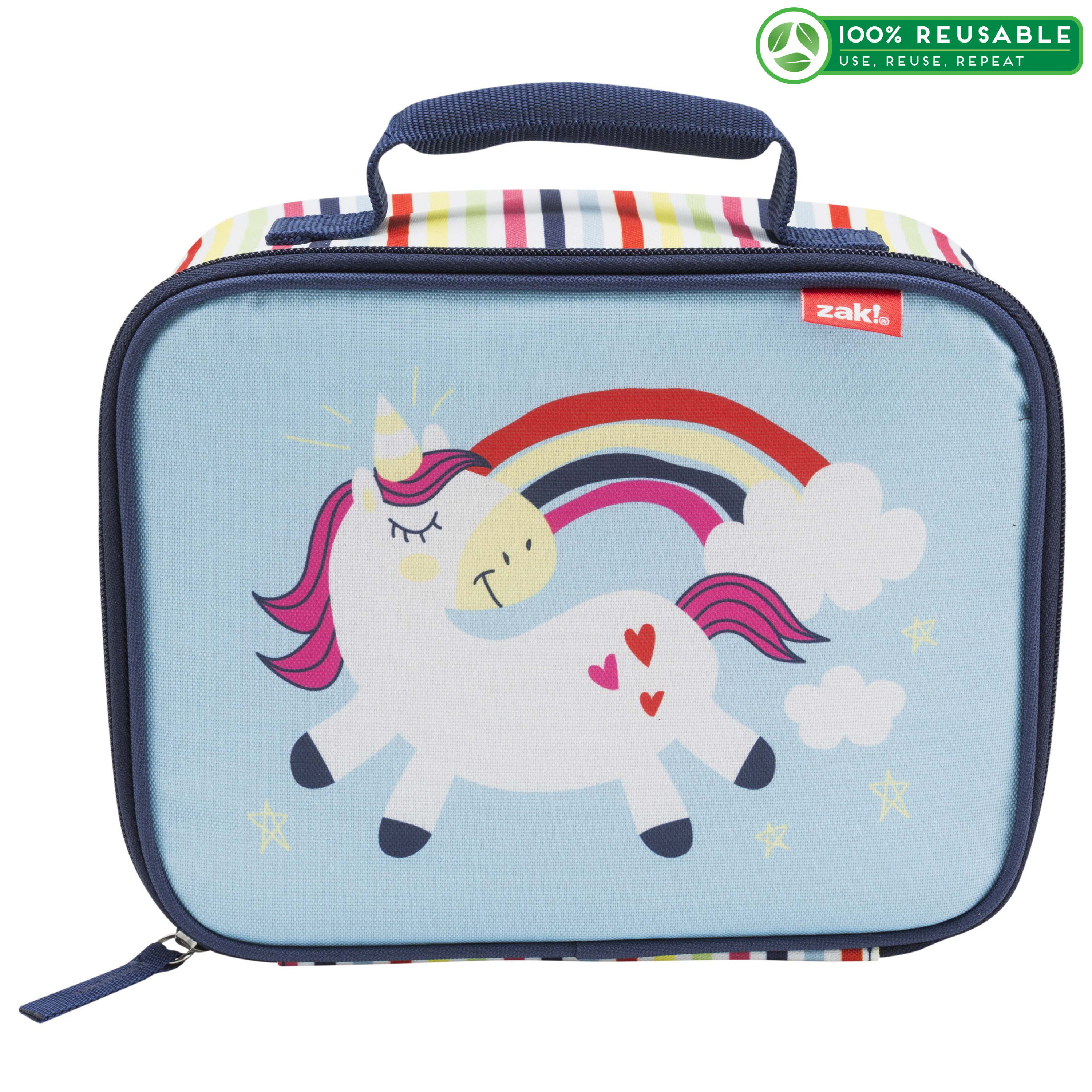 Happy Things Insulated Reusable Lunch Bag, Unicorns slideshow image 1