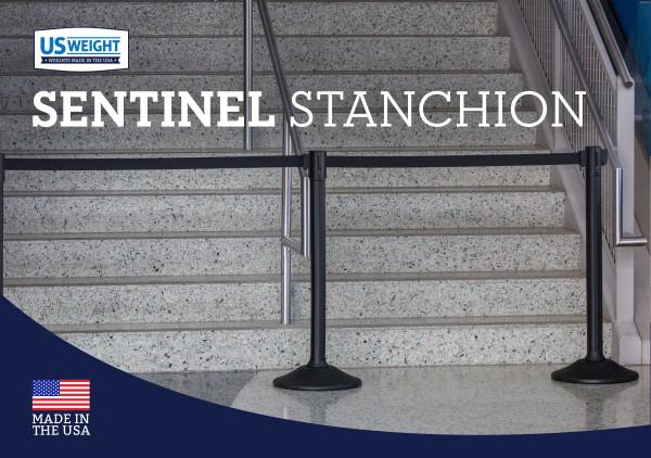 Sentinel Stanchion - Black with Black Belt 6