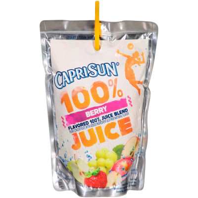 Capri Sun 100% Juice Berry 10 - 6 fl oz Pouches