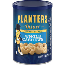 Planters Deluxe Lightly Salted Whole Cashews 18.25 oz Can
