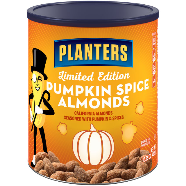 PLANTERS Pumkin Spice Almonds 15.25 oz Can image