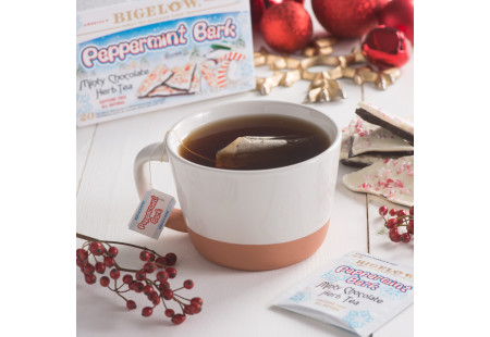 Peppermint Bark Herbal Tea - Case of 6 boxes- total of 120 teabags