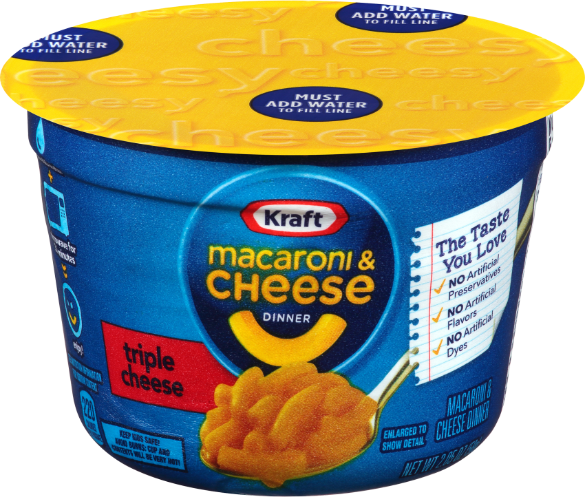 Kraft Triple Cheese Macaroni & Cheese Dinner 2.05 oz Cup
