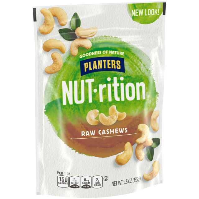 PLANTERS Raw Whole Cashews 5.5 oz Bag