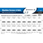 Slotted Flat & Round-Head Zinc Machine Screws and Nuts Assortment (#8-32)