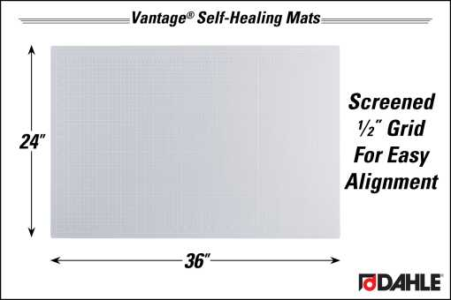 """Dahle Vantage® 24"""" x 36"""" Self-Healing Cutting Mat, Clear - InfoGraphic"""