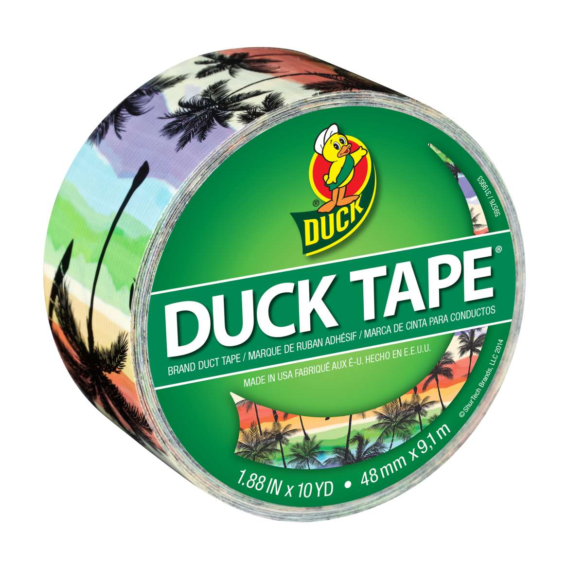 Printed Duck Tape® Brand Duct Tape - Sunset Strip, 1.88 in. x 10 yd. Image