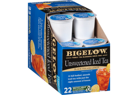 Box of Unsweetened Iced Tea K-Cup pods -total of 22 pods