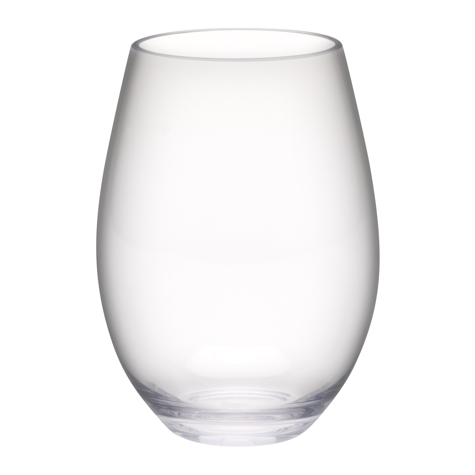 Trinity 20 ounce Plastic Wine Glasses, Clear, 2-piece set slideshow image 3