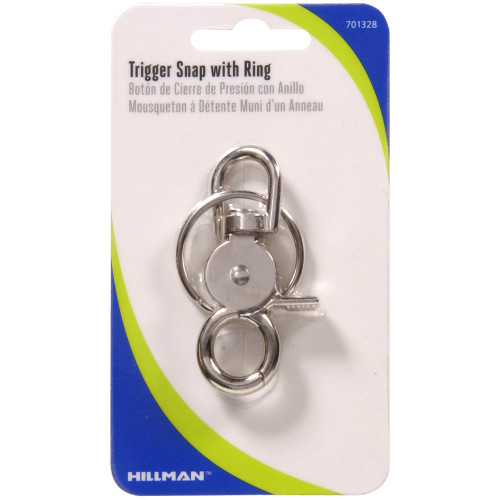 Hillman Metal Trigger Snap With Key Ring