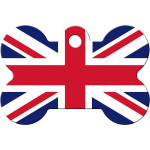 Union Jack Large Bone Quick-Tag