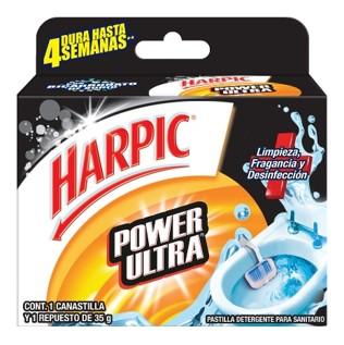 Harpic® Power Ultra Canastilla Pastilla Detergente Para Sanitario 35 G