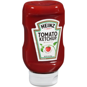 HEINZ Ketchup, 14 oz. Clear Inverted Bottles (Pack of 16) image