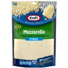 Kraft Mozzarella 2% Milk Shredded Natural Cheese 14 oz Pouch