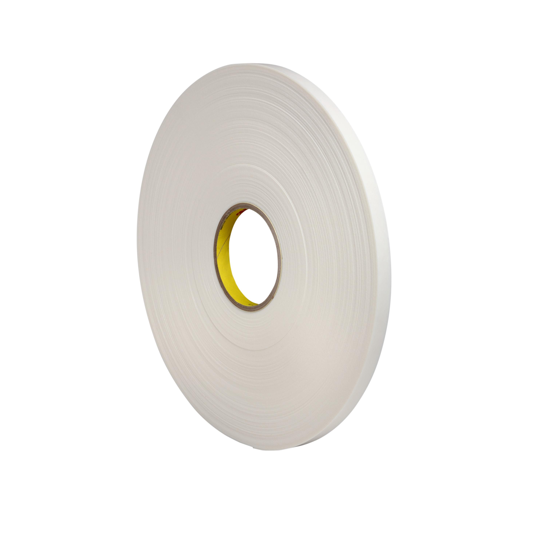 3M™ Double Coated Polyethylene Foam Tape 4462, White, 1 1/2 in x 72 yd, 31 mil, 6 rolls per case