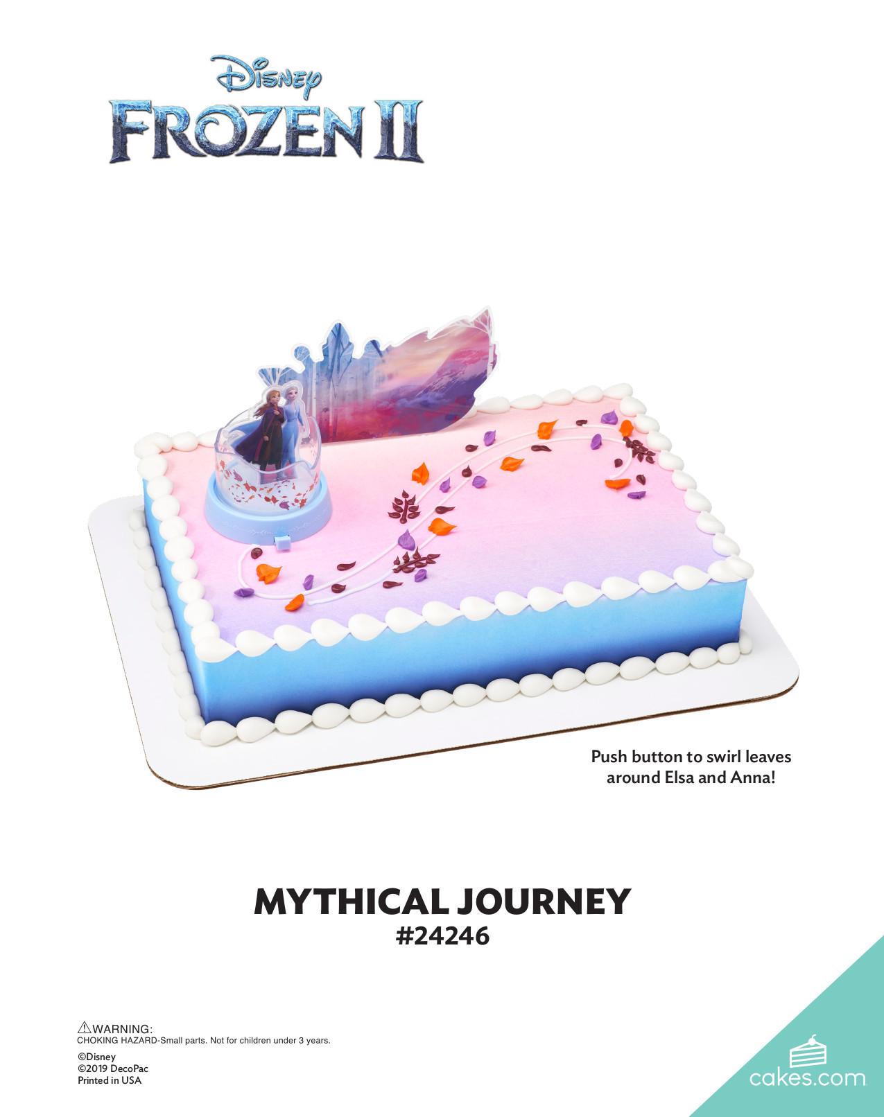 Disney Frozen Ii Mythical Journey The Magic Of Cakes