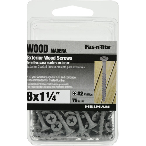 Fas-n-Tite Exterior Coated Wood Screw - XL Pack (#8 x 1-1/4