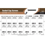 Flat-Head Socket Cap Screws Assortment (#0-80 thru #4-40 Thread)