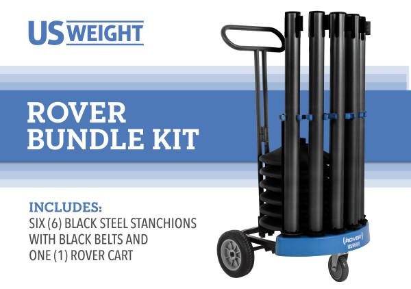 Rover Cart Bundle - Black Steel with black belts 2