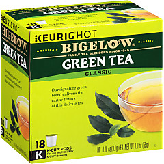 Green Tea K-Cups - Case of 4 boxes - total of 72 kcups