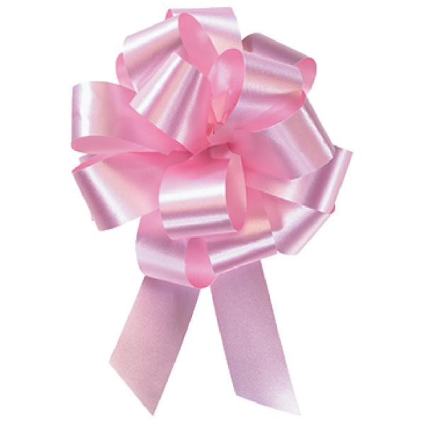 """4"""" Pink Flora Satin Perfect Bow"""