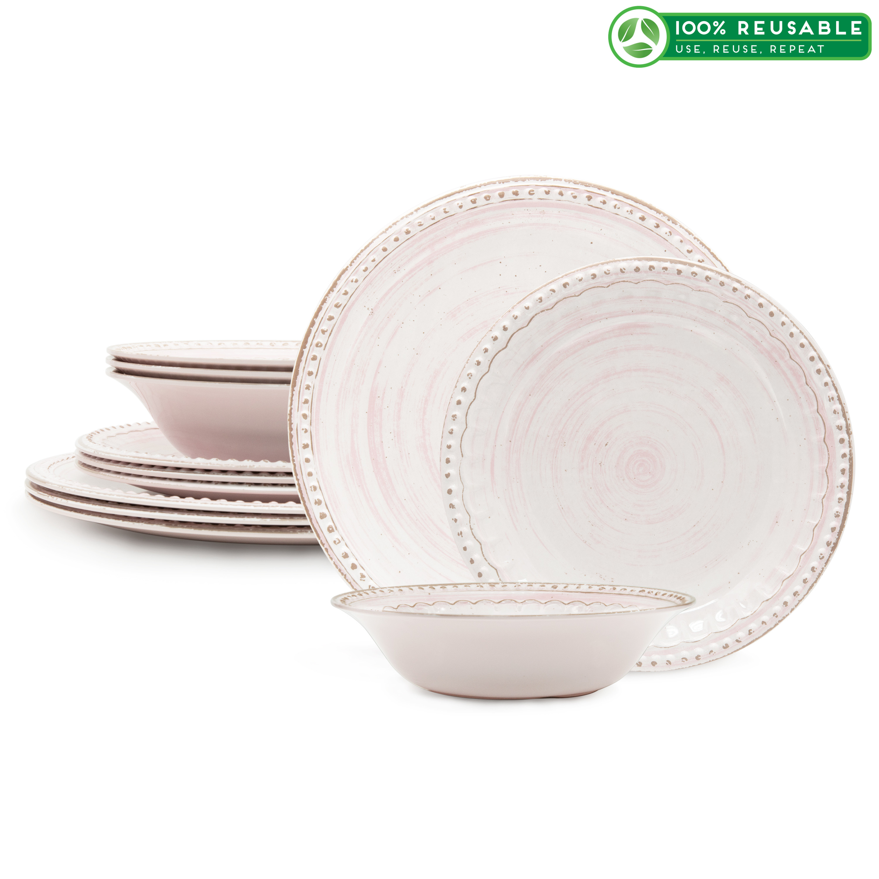 French Country Plate & Bowl Sets, Primrose, 12-piece set image