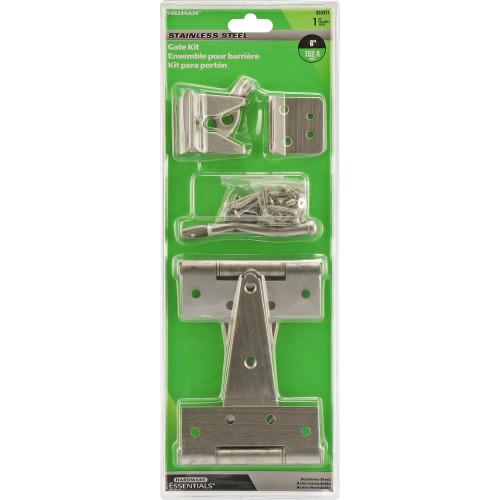Hardware Essentials Stainless Steel Heavy Duty Gate Hardware Kit