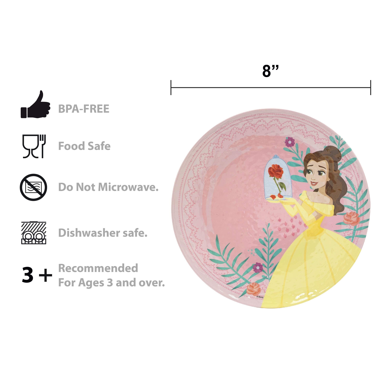 Disney Kids 9-inch Plate and 6-inch Bowl Set, Princess Belle, 2-piece set slideshow image 6