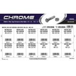 Chrome Metric Hex Cap Screws & Nuts Assortment (M5-0.80 thru M8-1.25 Thread)