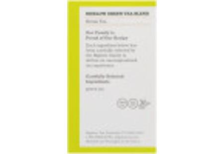 Ingredient panel of Green Tea 40 tea bags per box