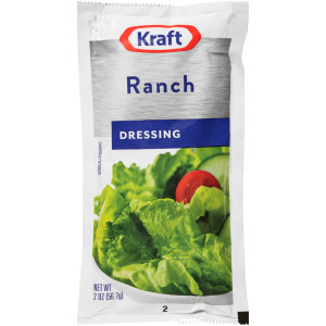 KRAFT Single Serve Ranch Salad Dressing, 2 oz. Packets (Pack of 100) image