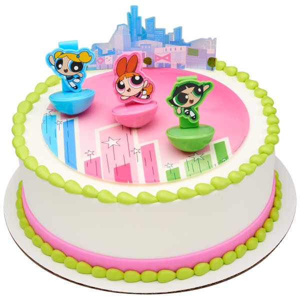 The Powerpuff Girls™ The Day is Saved! PhotoCake® Edible Image® DecoSet® Background