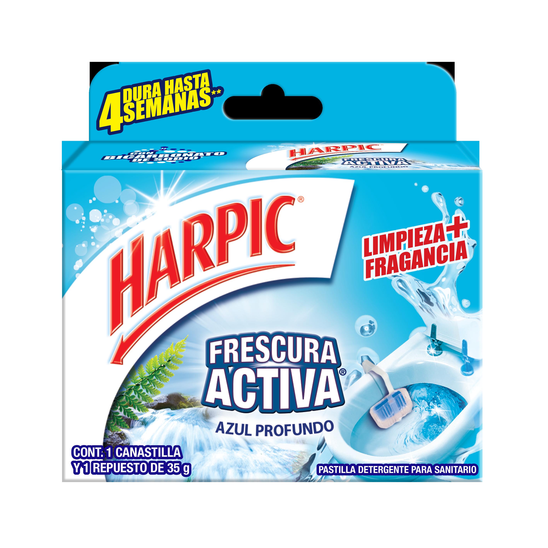 Harpic® Canastilla Frescura Activa Azul Profundo 35gr