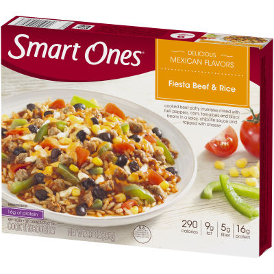 Smart Ones Delicious Mexican Flavors Fiesta Beef & Rice 9 oz Box