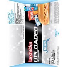 Lunchables Uploaded Turkey & Ham Sub Convenience Meals, 15.5 oz Box