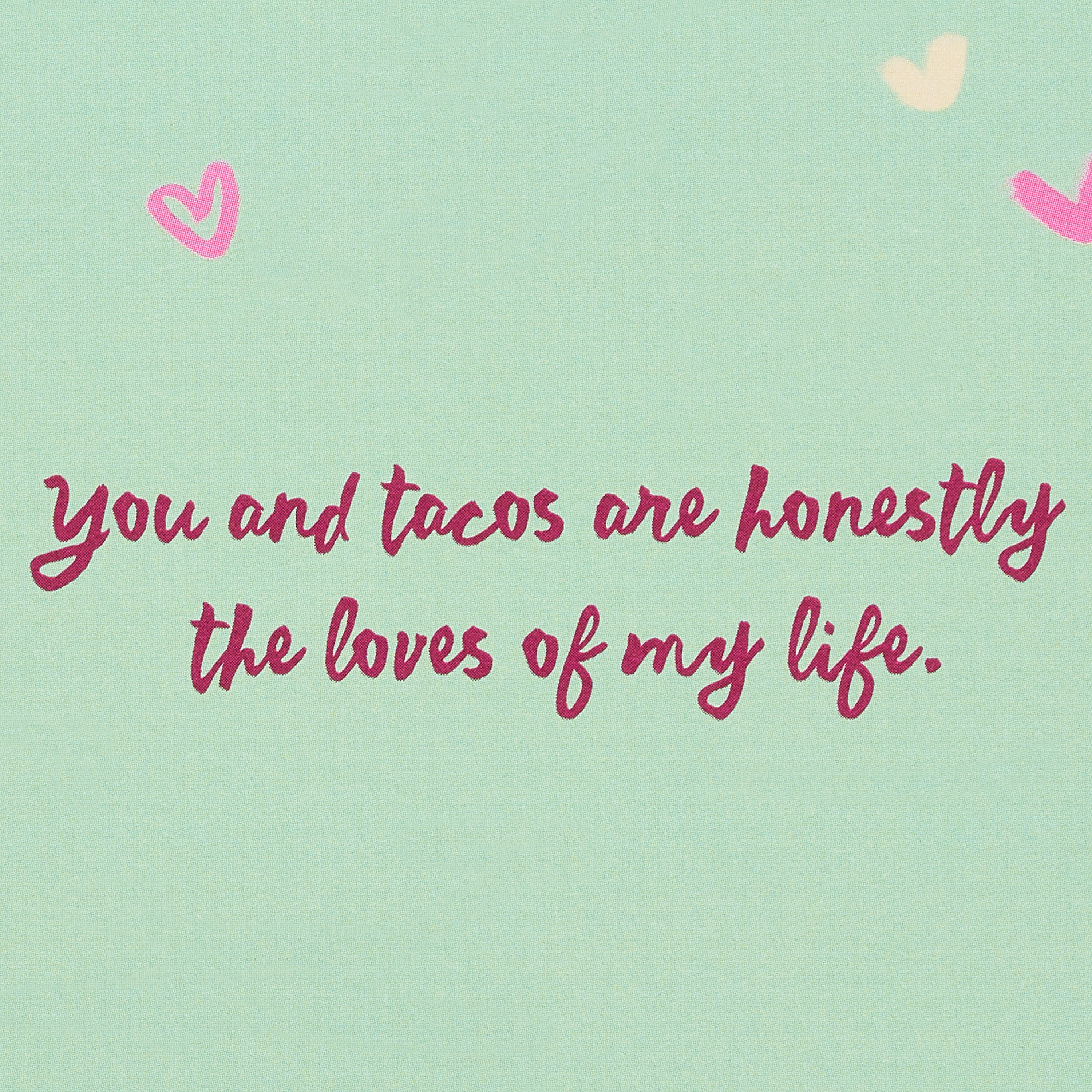 Romantic Tacos Valentine's Day Card image