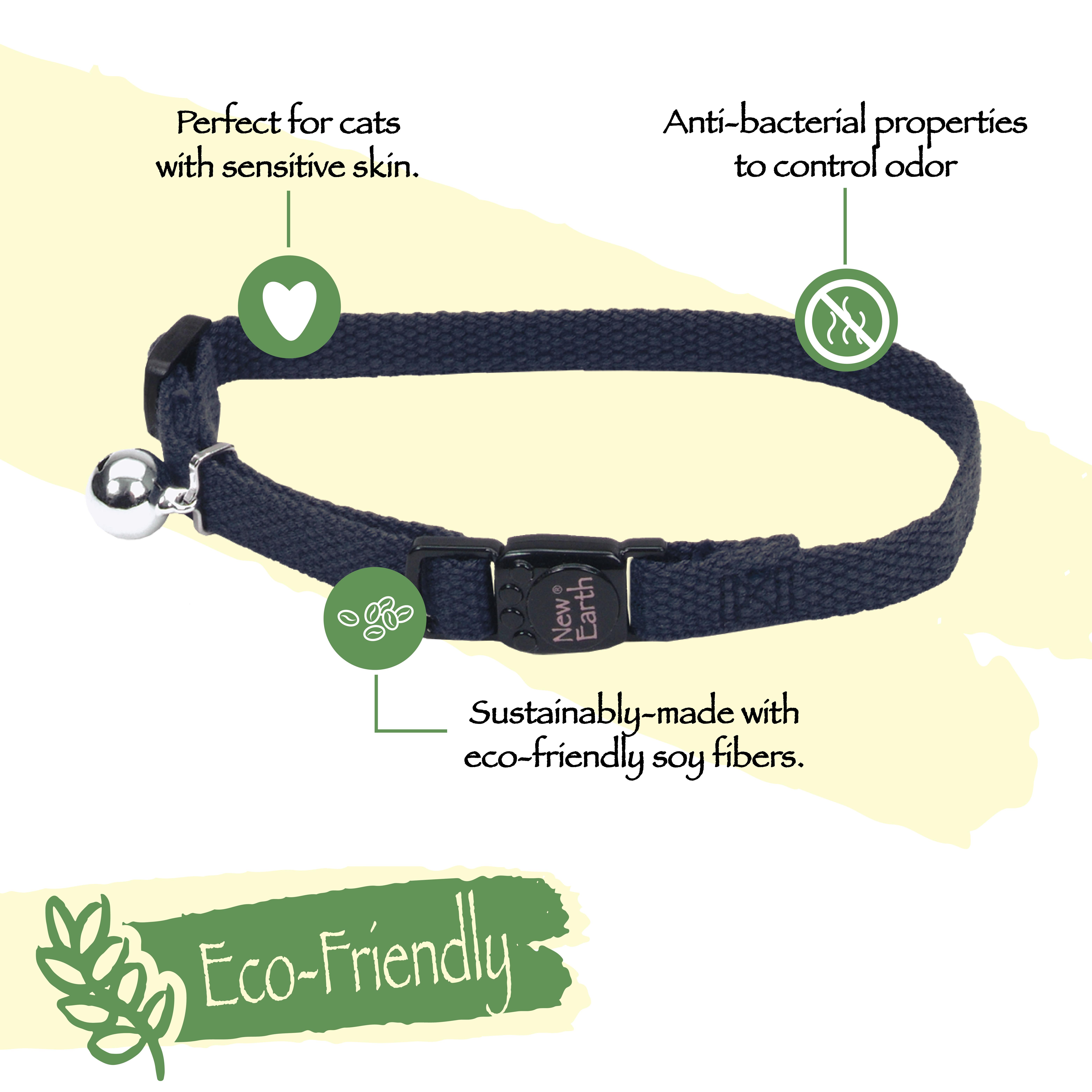 New Earth® Soy Adjustable Breakaway Cat Collar