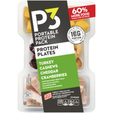 Oscar Mayer P3 Turkey, Cheddar, Cashews & Cranberries Portable Protein Pack 3.2 oz Tray