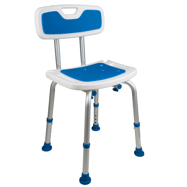 7103 Adjustable Padded Bath Safety Seat With Backrest