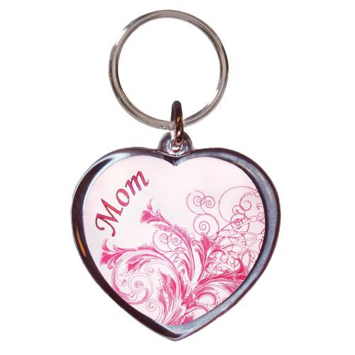 Mom Heart Acrylic Key Chain