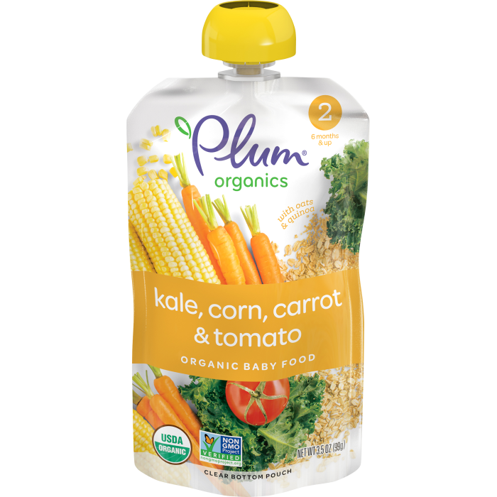 Kale, Corn, Carrot & Tomato Baby Food