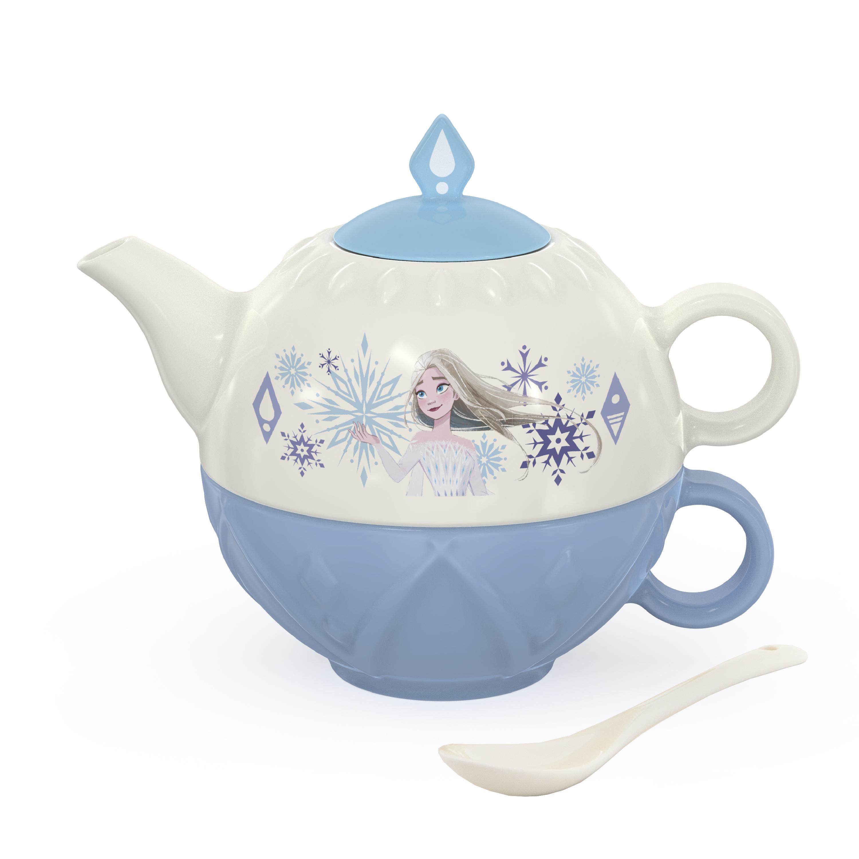 Disney Frozen 2 Movie Sculpted Ceramic Tea Set, Princess Elsa, 4-piece set slideshow image 1