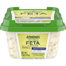 Athenos Crumbled Traditional Fat-Free Feta Cheese 5 oz Tub