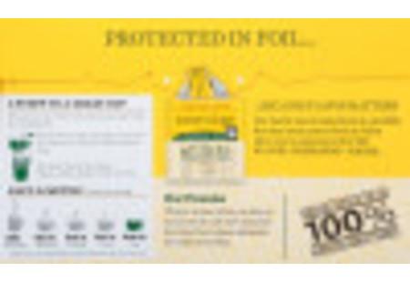 Bigelow Lemon Ginger Herbal Tea plus Probiotics tea bag in foil overwrap
