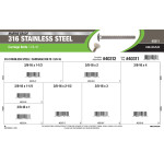 """Marine-Grade #316 Stainless Steel Carriage Bolts Assortment (3/8""""-16)"""