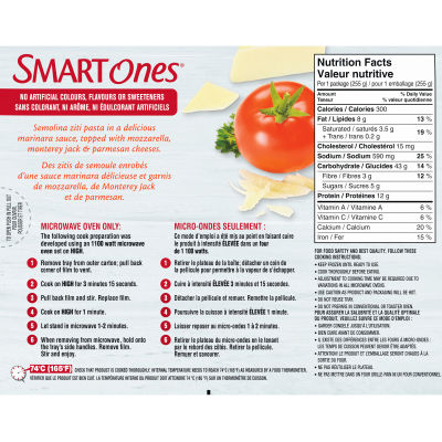 Smart Ones Three Cheese Ziti Marinara Frozen Meal