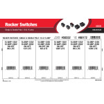 Single & Double-Pole Rocker Switches Assortment (10 & 15 Amp)
